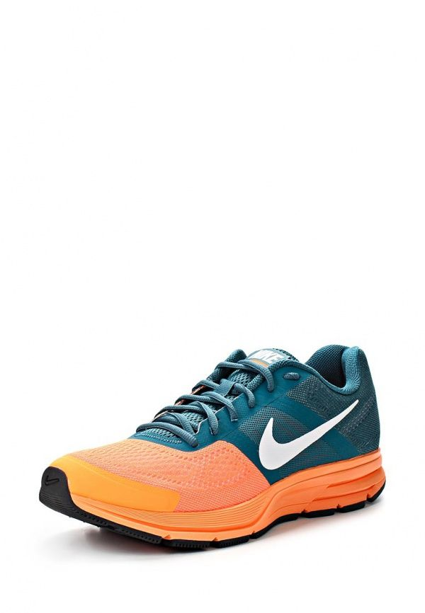 Кроссовки Nike / Найк мужские. Цвет: зеленый, оранжевый. Материал: текстиль. Сезон: Весна-лето 2014. С бесплатной доставкой и примеркой на Lamoda. http://j.mp/1nJfViH