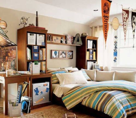 Dorm Room Desk Storage