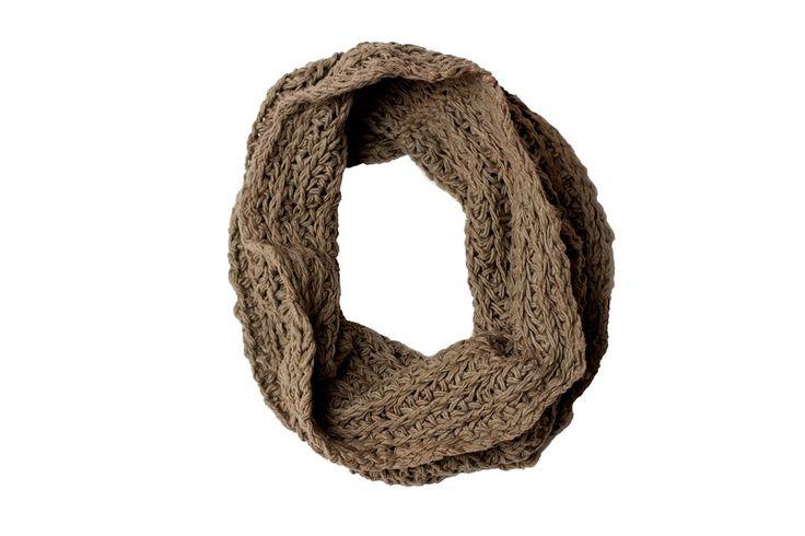 Zuriash: Hand-knit Inifinity Scarf - Taupe Grey