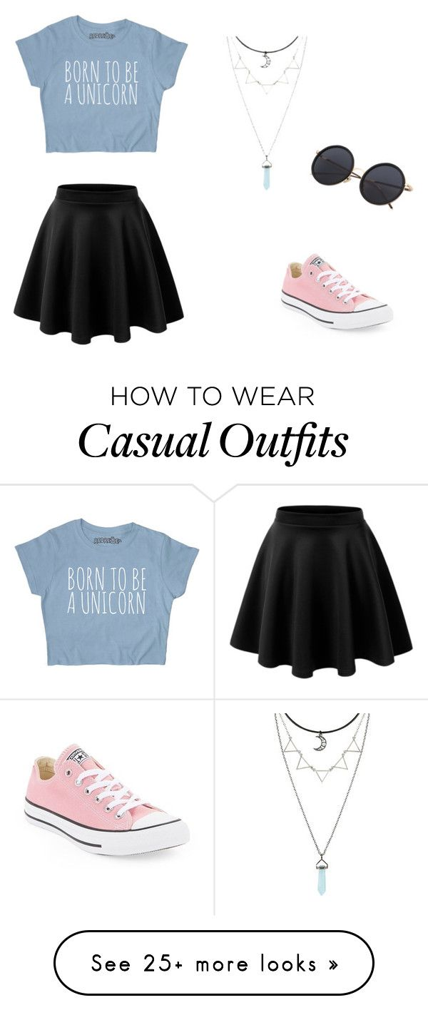 """Casual"" by anjiew on Polyvore featuring Converse"