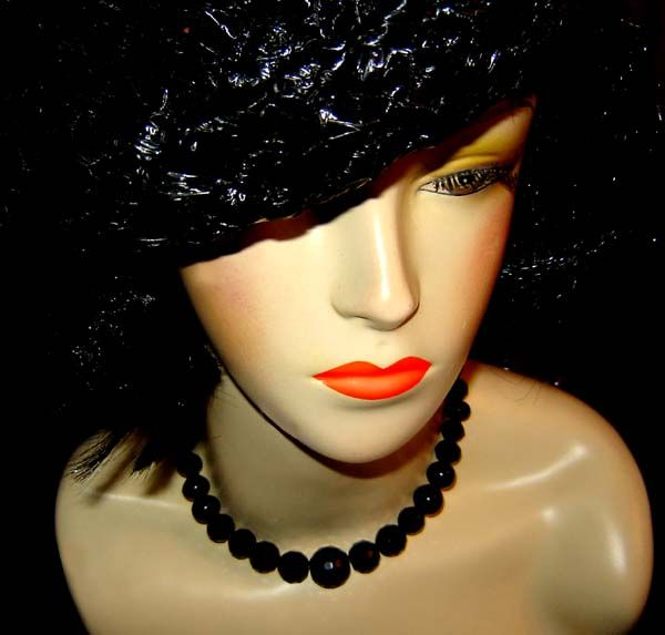 Vintage Multi Faceted Whitby Jet Beaded Necklace - Repurpose, £35.00