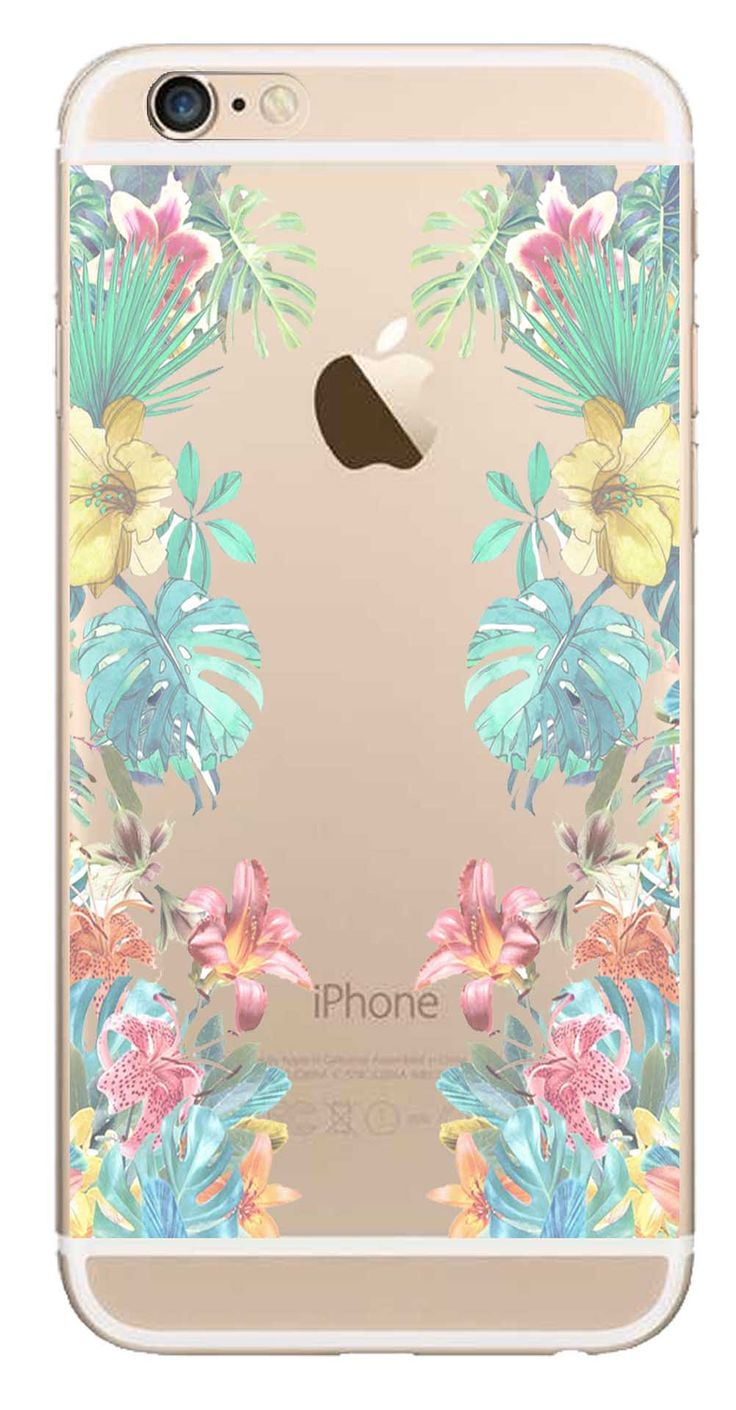 Whatskin DIY Style Color Drawing Flowers Series 01 Clear Back Cover for iphone 6