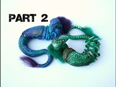 Fantasy Snake Sculpture Part 2 of 2 polymer clay tutorial