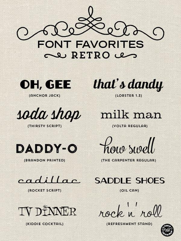 Guess Vintage script fonts the