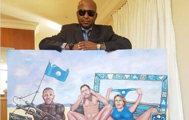 DA up in arms over Kenny Kunene's GRAPHIC naked Mmusi Maimane painting A painting depicting a naked Mmusi Maimane pulling a wagon with a nude James Selfe and Helen Zille has caused a ruckus on social media and the DA's not too happy about it. http://www.thesouthafrican.com/da-up-in-arms-over-kenny-kunenes-graphic-naked-mmusi-maimane-painting/