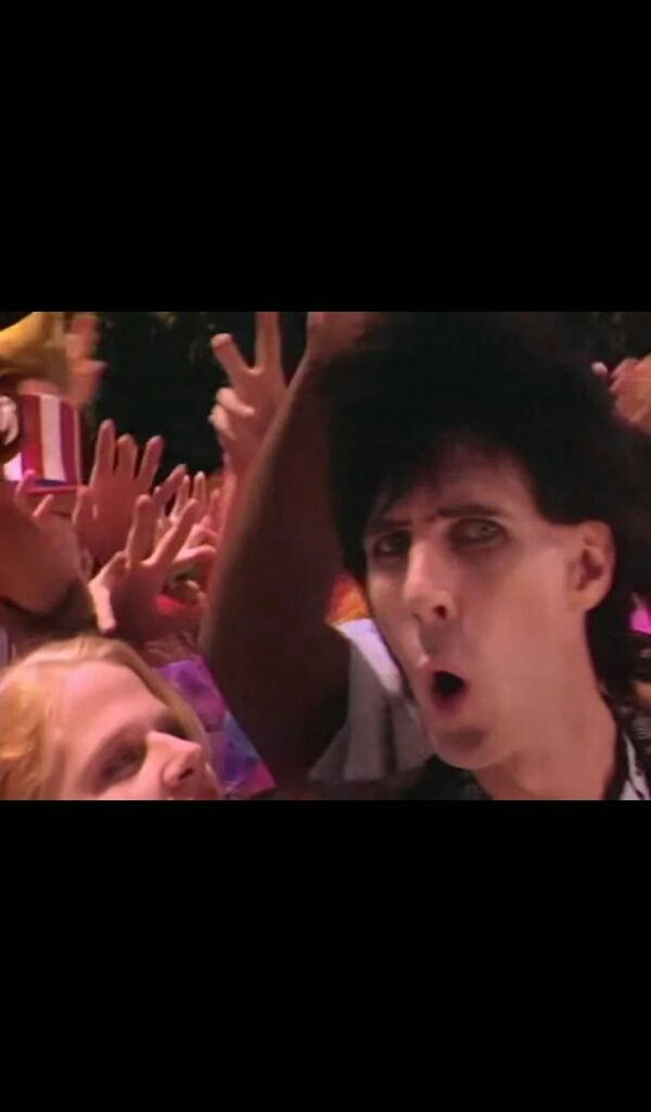 "Ric Ocasek in the ""Magic"" music video"