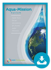 Aqua-mission is a world-wide unique humidity extraction system based on long-tested mining Air conditioning technology. The basic idea was inspired by air-conditioning facilities used in coal mines; where large quantities of hot air had to be cooled down to improve working conditions. #water #greentechnologies #renewableenergy #greenhouseeffect #waste #climatechange #globalwarming