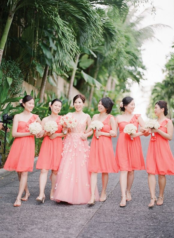 664 best bridesmaid dresses images on pinterest brides for Coral wedding bridesmaid dresses