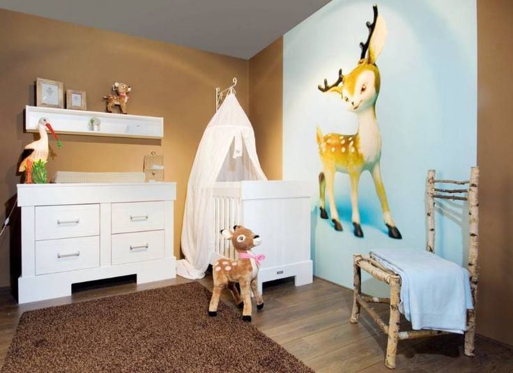 17 beste afbeeldingen over kinderkamer thema hertje en bambi kid 39 s room theme deer op - Deco slaapkamer meisje en jongen ...