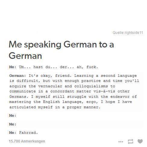 Speak german to me