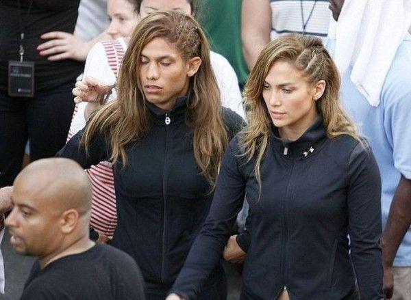 Fotos de 32 actores famosos y sus dobles   Jennifer Lopez & Daniel Arroyo