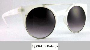 Vamp Retro Cat Eye Sunglasses II - 509A White