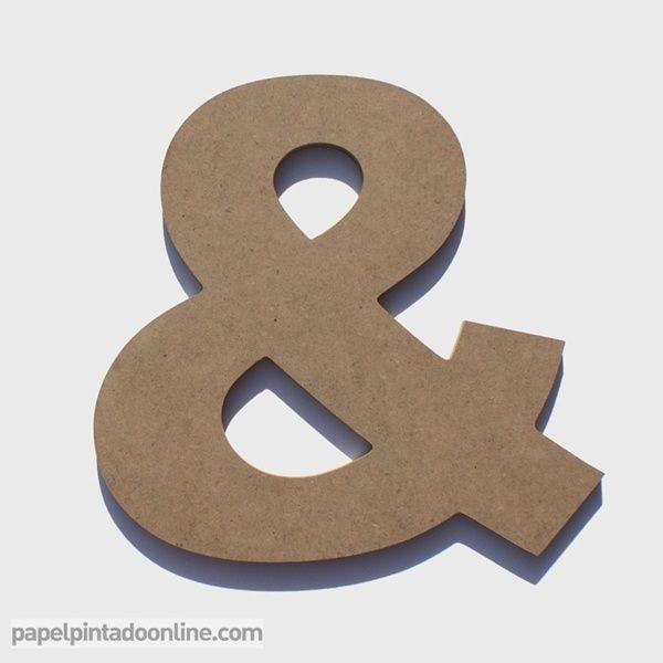 Letras de madera de 20 cm de alto x 1 cm de grosor ideales - Letras en madera ...