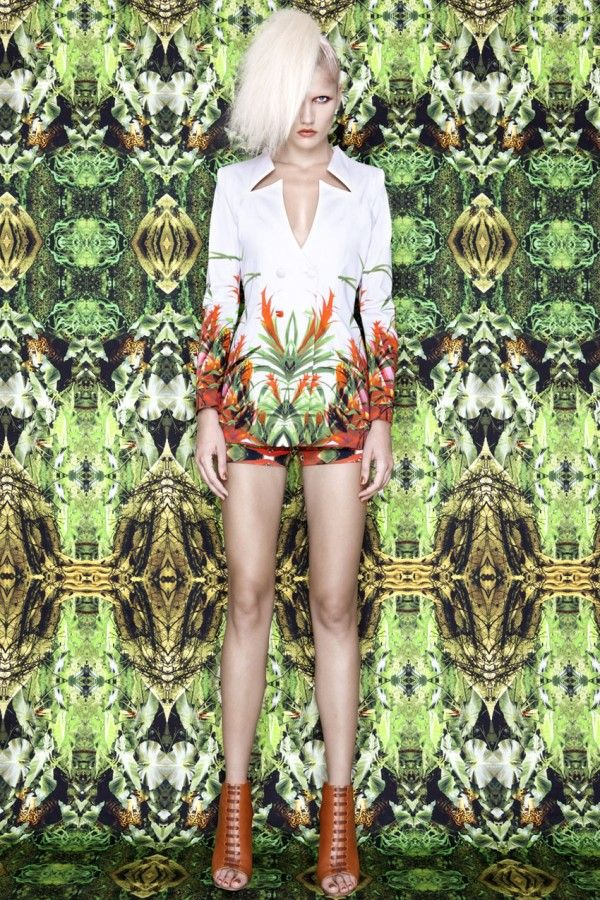 A lab Milano's Alessandro Biasi and Simona Costa's new S/S 2012 collection is all about encompassing the wild world of the Amazon.