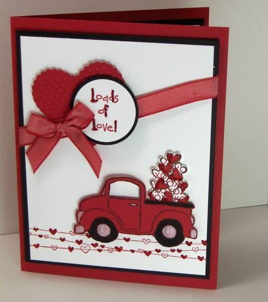 loads of love Valentine truck card