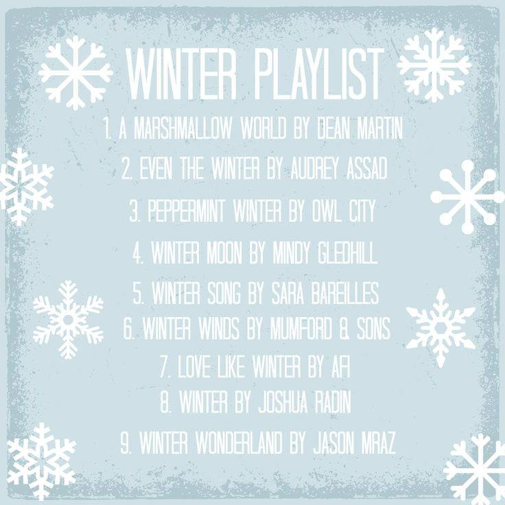 Winter Playlist