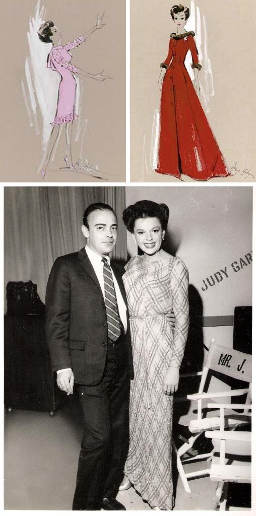 Judy Garland with costume designer Ray Aghayan, The Judy Garland Show (1963-64, CBS)