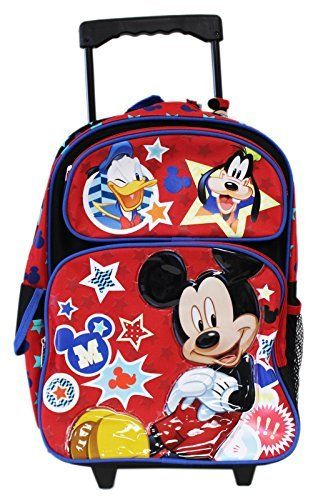 Full Size Disney Mickey Mouse and Friends Kids Rolling Backpack. #Full #Size #Disney #Mickey #Mouse #Friends #Kids #Rolling #Backpack