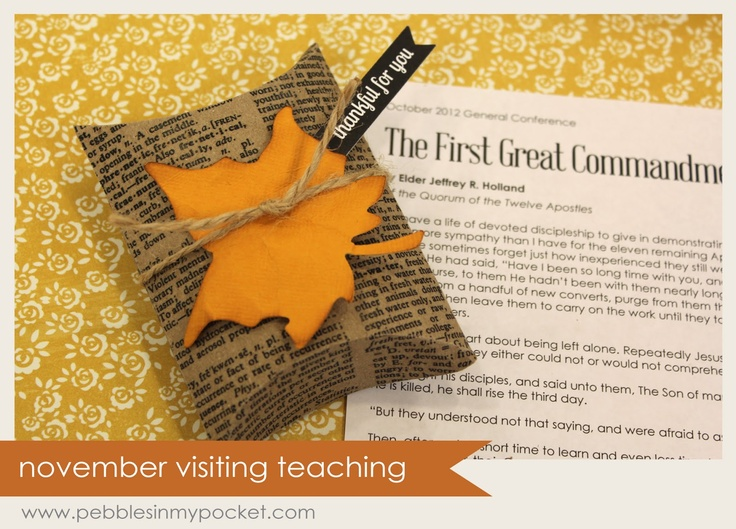 34 best visiting teaching gifts images on pinterest church ideas pebbles in my pocket blog visiting teaching message cute gifts for every month negle Image collections