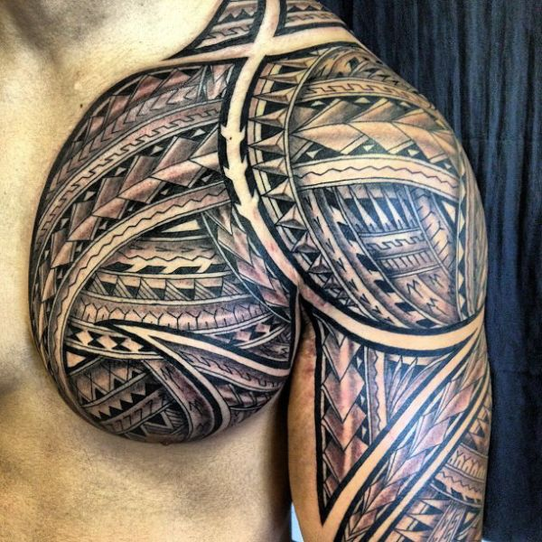 Maori Tribal Tattoo Designs Chest: Polynesian Tribal Geometric Tattoos - Google Search