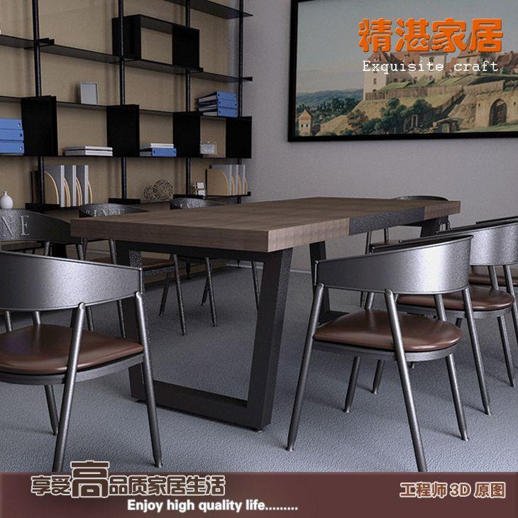 Vintage-paese-americano-in-legno-tavoli-e-sedie-bar-in-ferro-battuto-tavolo-scrivania-scrivania-del.jpg (730×730)