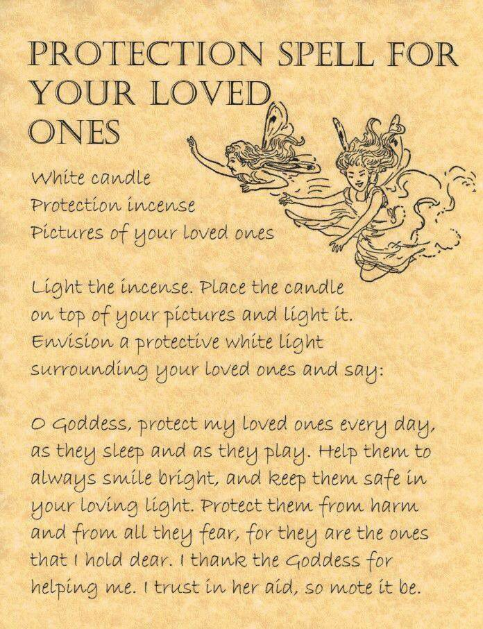 Protection for loved ones Zaklecie ochronne dla swoich bliskich.