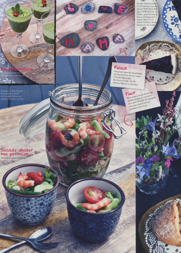 Mooie foodstyling in Mama Magazine