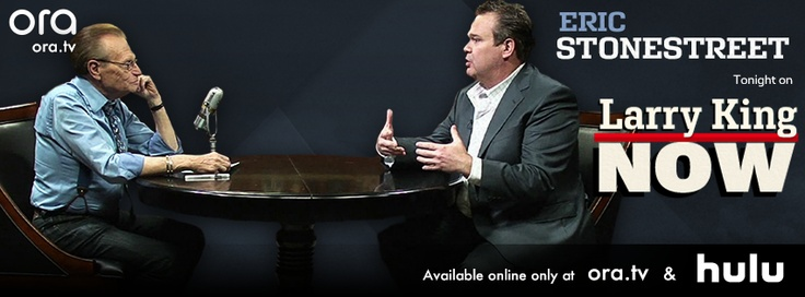 Larry welcomes Modern Family star Eric Stonestreet to the studio to chat about his tremendously popular show, his penchant for clowning around, and what it's like to play a gay character. Watch this full episode of #LarryKingNow on Ora TV & Hulu: http://on.ora.tv/NMGoeL
