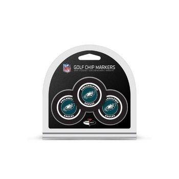 Philadelphia Eagles Golf Chip with Marker 3 Pack