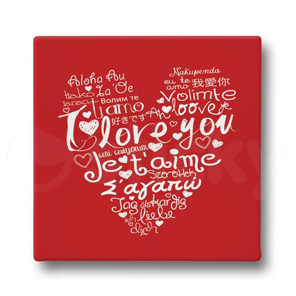 Canvas print I LOVE YOU by Sticky!!!