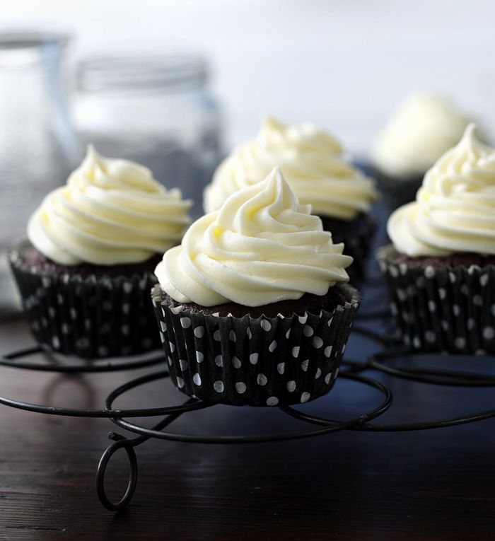 Irish stout makes these chocolate cupcakes extra rich and perfect for St Patrick's Day!