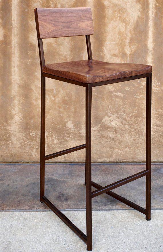 Excellent Metal Wood Bar Stool 36 Stool Barstool Chair Metal Inzonedesignstudio Interior Chair Design Inzonedesignstudiocom