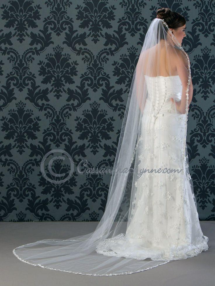 Lace Wedding Veil Circular Chapel Length