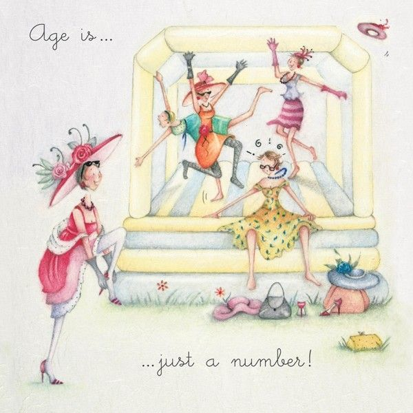 Cards » Age is just a number » Age is just a number - Berni Parker Designs