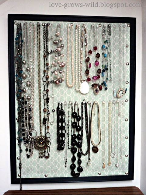 Love Grows Wild: Once a Cork Board, Now Necklace Storage!