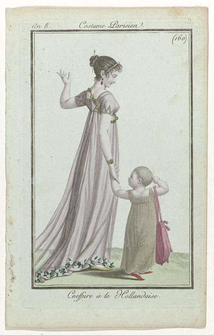 Journal des Dames et des Modes, Costume Parisien, 27 septembre 1799, An 8 (160) : Coeffure à la Hollandaise, Anonymous, Pierre de la Mésangère, 1799