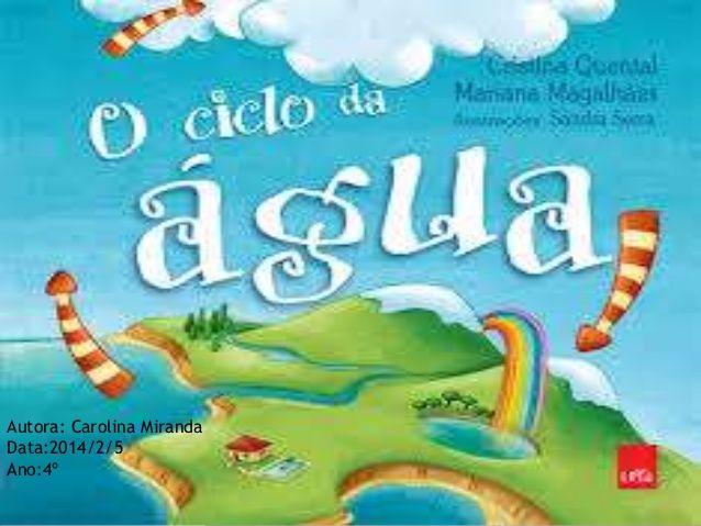 O ciclo da agua pela Carolina Miranda