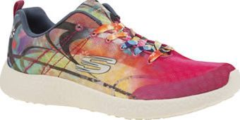 Skechers Multi Burst Life In Color Womens Trainers Live your Life In Color as the Skechers Burst lands on the scene. The multi-coloured fabric trainer features an Air-Cooled Memory Foam insole and sits on a Burst Compound midsole for superior cushioni http://www.comparestoreprices.co.uk/january-2017-8/skechers-multi-burst-life-in-color-womens-trainers.asp