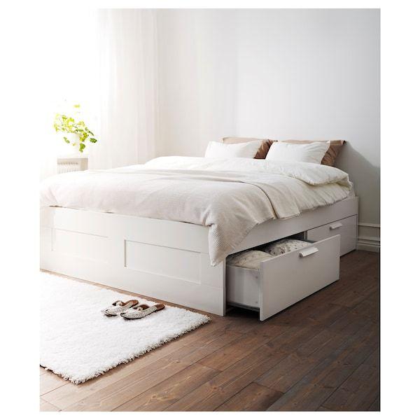 Brimnes Bed Frame With Storage White, Ikea Brimnes Double Bed Frame With Storage