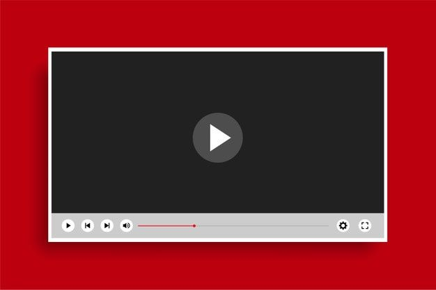 Download Flat Style Clean Modern Video Player Template For Free Clean Modern Video Player Fashion Flats