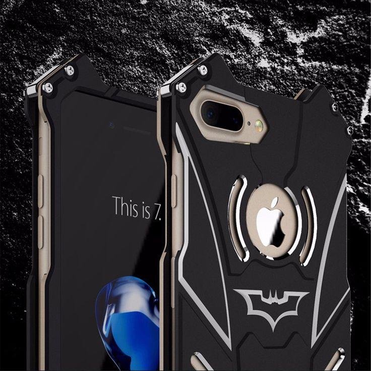 batman serie mucho polvo armadura de metal anodizado de aluminio case para iphone 7 plus 7 s 6 6 s 5 5S sí fundas coque tapa de la carcasa - envíos gratis en todo el mundo