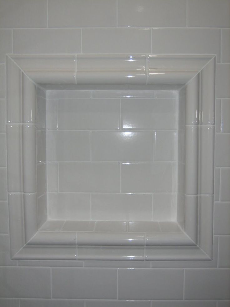 subway tile shower shelf bullnose pieces
