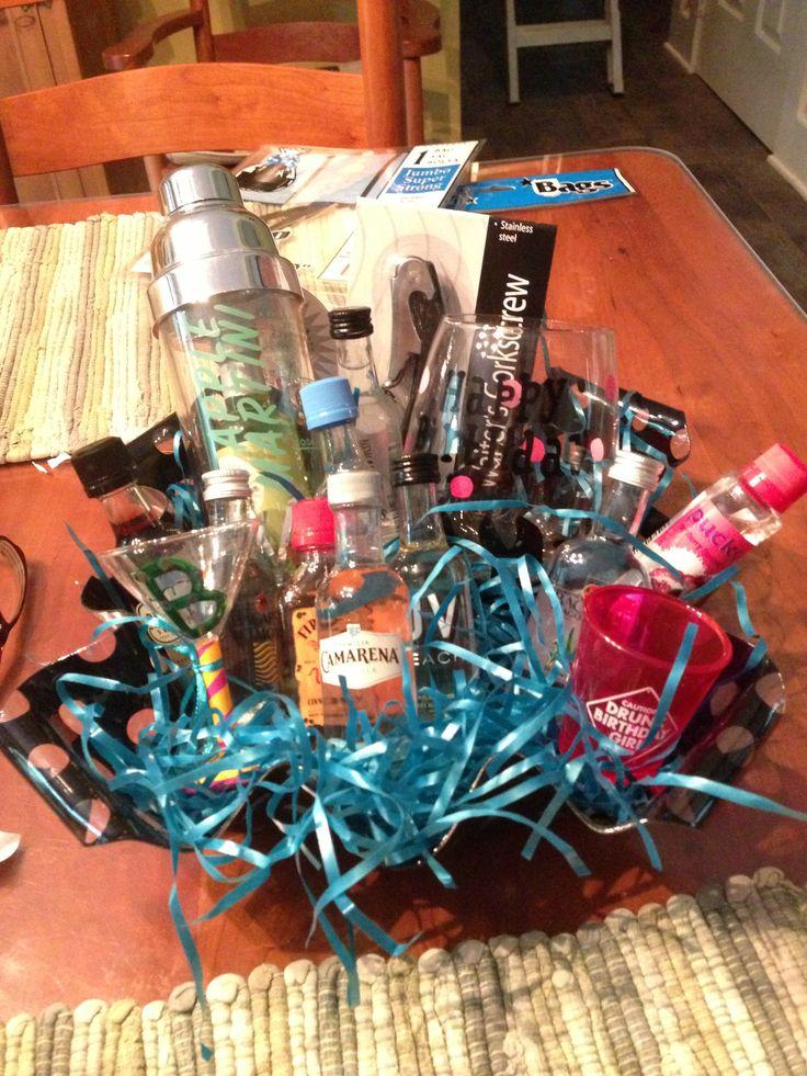 21st Birthday Alcohol Basket