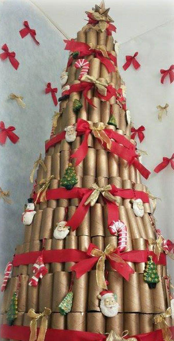 decoracao arvore de natal infantil:ideias sobre Árvores De Papel Higiênico no Pinterest