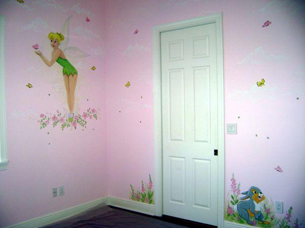 60 best murals for girls images on pinterest wall murals for Kids room doorbell