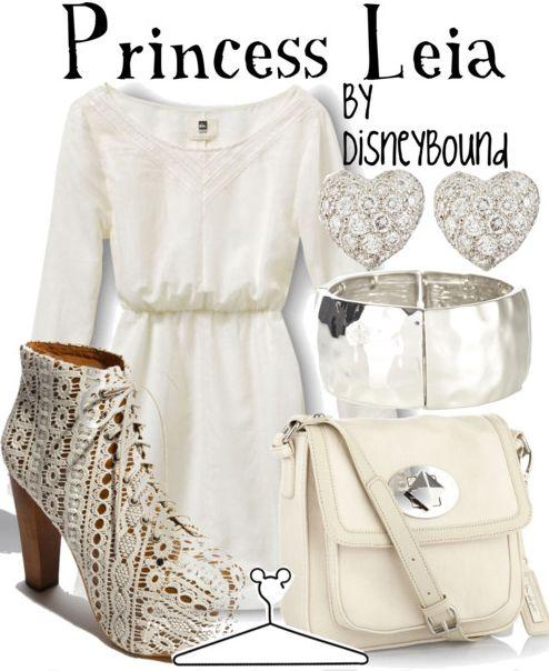 Disney BoundFashion Style, Disneybound Closets, Star Wars, Disneybound Style, Stars Wars, Disney Bound, Disney Fashion, Princess Leia, Read Princesses