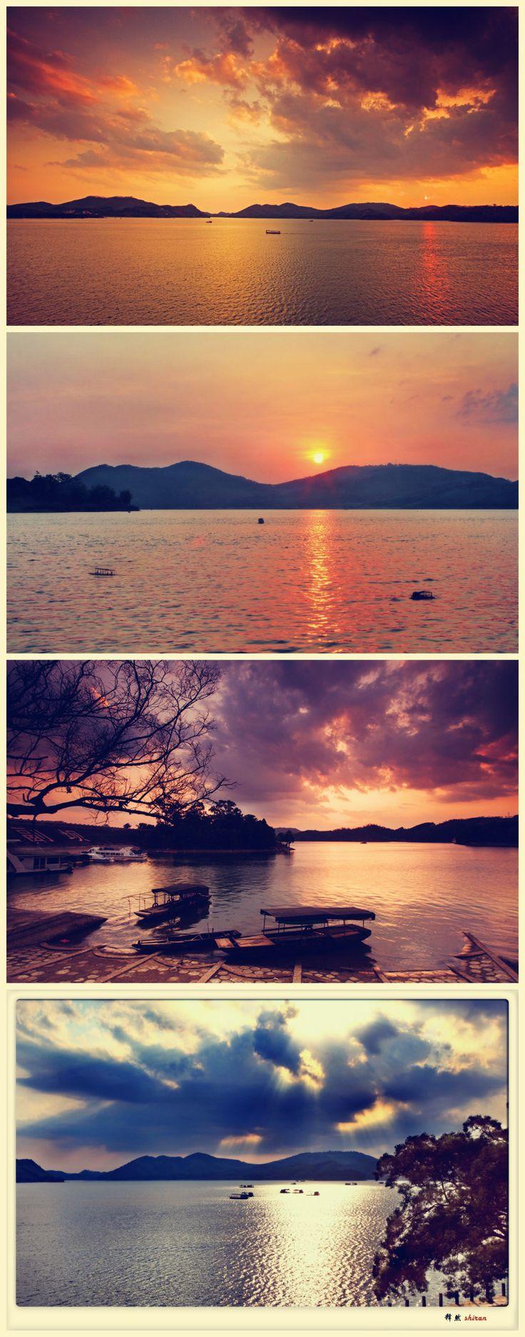 Peaceful scenery in Nanning Fenghuang Lake, Guangxi, China