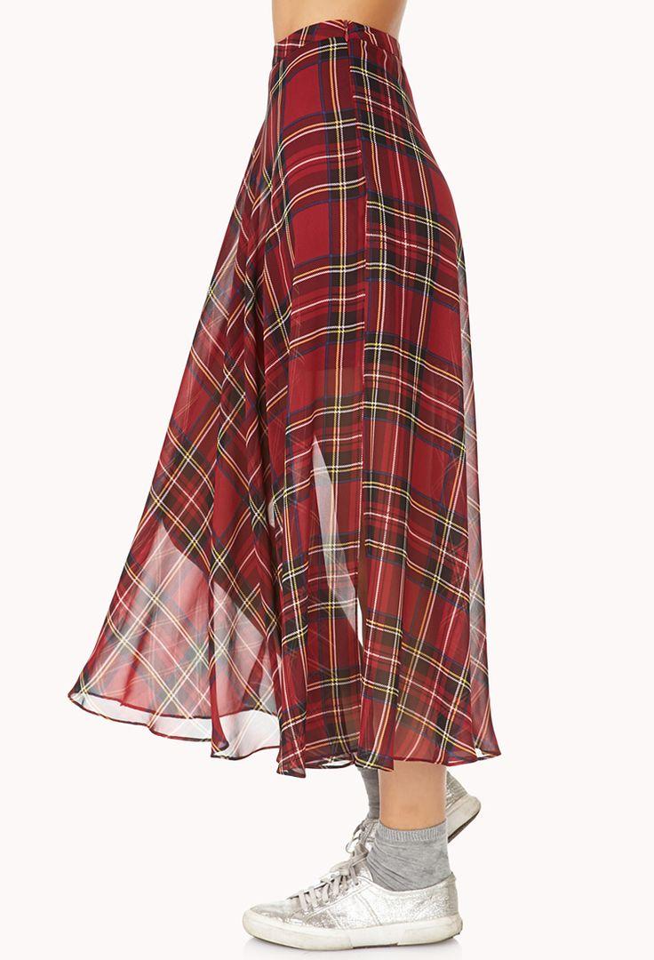 Tartan skirt.