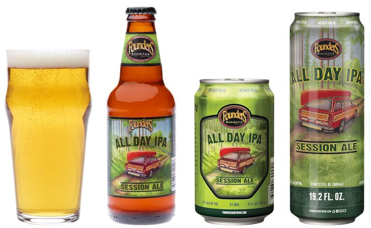 @foundersbrewing. All Day IPA Session Ale - drinkable, pine hops, citrus, floral, fruity (malt)