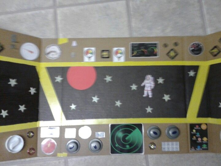 This is the control panel for our space ship for the pre-k space unit.